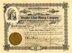 Wonder Chief Mining Company - Goldfield, Nevada 1907