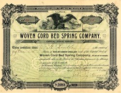 Woven Cord Bed Spring Company - Chicago, Illinois 1895