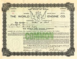 World Gas Engine Co. - Maine 1917