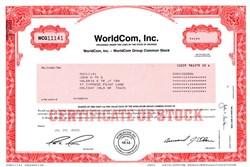 Worldcom, Inc. (Bernard Ebbers as President and Scott D. Sullivan as Secretary)  - Georiga 2002