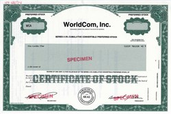 WorldCom, Inc.- MCI Group - MCI Tracking Stock Worldcom, Inc. (Bernard Ebbers as President and Scott D. Sullivan as Secretary) - Specimen