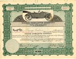 Woods Mobilette Company - Arizona 1913