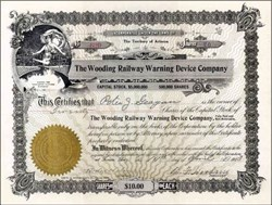 Wooding Railway Warning Device 1913 - Territory of Arizona