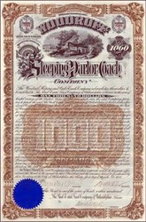 Woodruff Sleeping and Parlor Coach Company 1888