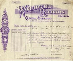 Worldecho Records - 1930