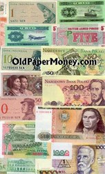 WORLD PAPER MONEY COLLECTION - 25 Different - Includes a Saddam Hussein Bill