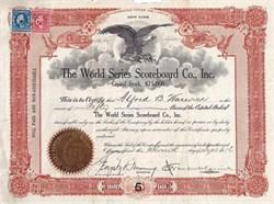 World Series Scoreboard Co., Inc. - New York 1916