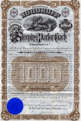Woodruff Sleeping and Parlor Coach Company - Pennsylvania 1888