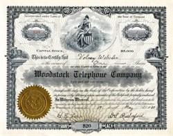 Woodstock Telephone Company - Vermont 1920