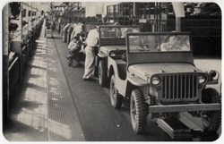 World War II Defense Bond Ford Motor Company Post Card - Jeep Factory 1941