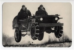World War II Defense Bond Ford Motor Company Post Card - Jeep in Air 1941