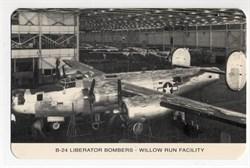 World War II Defense Bond Ford Motor Company Post Cards - B-24 Liberator Bomber Factory in Willow Run  - 1942