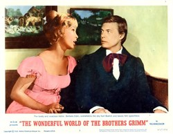 The Wonderful World of the Brothers Grimm Lobby Card Starring Barbara Eden and Karl Boehm - 1963