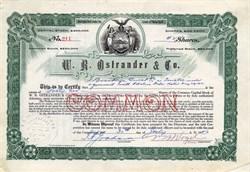 W. R. Ostrander & Co. - New York 1926