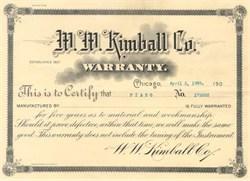 W.W. Kimball Piano Company 1908 - 1910