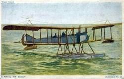 WW l Naval Air Scout Litho Postcard