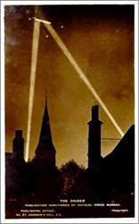 """WWl Zepplin Photo Postcard """"The Raider"""""""