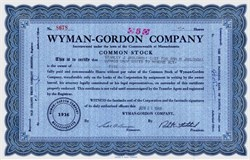 Wyman-Gordon Company - Massachusetts 1972