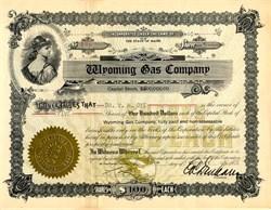 Wyoming Gas Company - Maine 1926