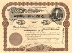 Wyoming - Sunrise Oil Co. 1917