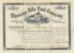 Wyoming Villa Land Company 1888
