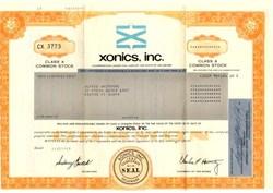 Xonics, Inc. - Delaware 1981