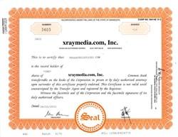 xraymedia.com, Inc. - A Dot Com Bomb -  Minnesota 2001