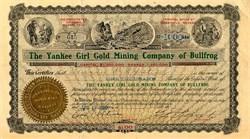 Yankee Girl Gold Mining Company of Bullfrog - Goldfield, Nevada 1906