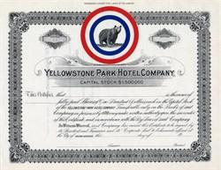 Yellowstone Park Hotel Company (Bear Vignette) - Helena, Montana 1900
