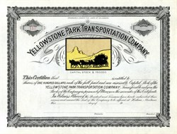Yellowstone Park Transportation Company - 1920's