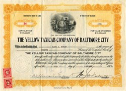 Yellow Taxicab Company of Baltimore City 1915 - Delaware