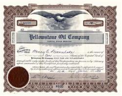 Yellowstone Oil Company, South Dakota - 1933