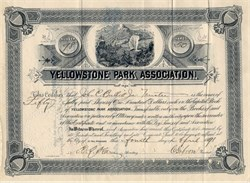 Yellowstone Park Association - Minnesota 1891