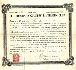Yokohama Country & Athletic Club -  Japan 1913