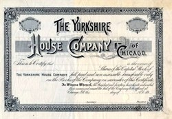 Yorkshire House Company of Chicago -  Illinois 1890's