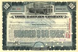 York Railways Company 1934
