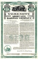 Yosemite Short Line Railway Company - California 1905