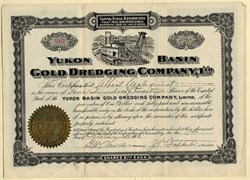 Yukon Basin Gold Dredging Company, Ltd. (Over 100 years old) - Yukon Territory  - Alaska