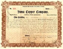 Yuma Copper Company - Arizona 1909
