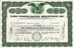 Yuba Consolidated Industries, Inc. - San Francisco , California 1957