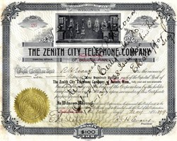 Zenith City Telephone Company of Duluth, Minnesota / Superior, Wisconsin - 1899