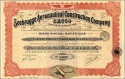 Zeebrugge Aeronautical Construction Company 1926 - Zeebrugge, Belgien