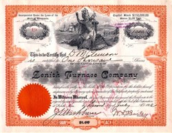 Zenith Furnace Company - Duluth, Minnesota 1902
