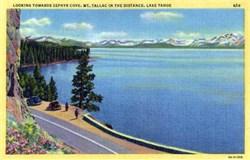 Zephyr Cove, Lake Tahoe Postcard