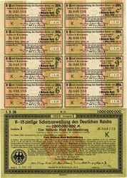 1,000,000,000 Mark Treasury Bond - One Billion Mark Bond - Berlin, Germany 1924