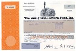 Zweig - Martin Zweig Fund - Statue of Liberty  and WTC Vignette + Martin Zweig as President