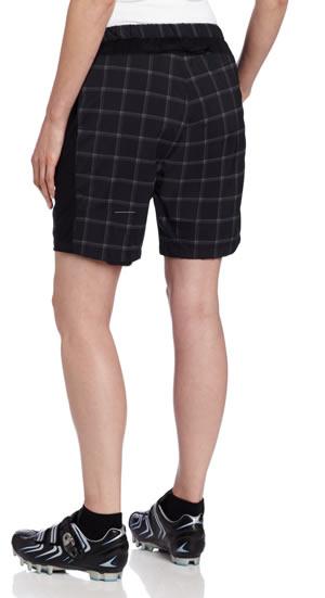 plaid mountain bike shorts