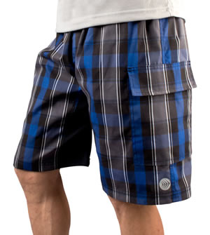 plaid mountain bike shorts