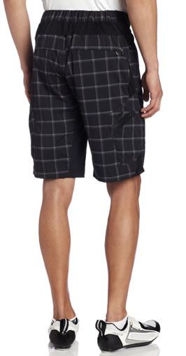 mountain bike shorts - black plaid
