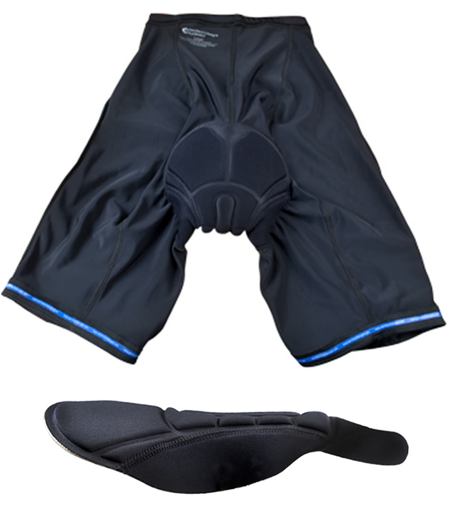 Black P. Bike Shorts